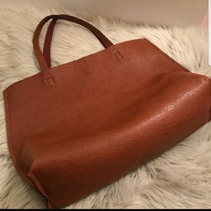 Leather tote,  madewell dup